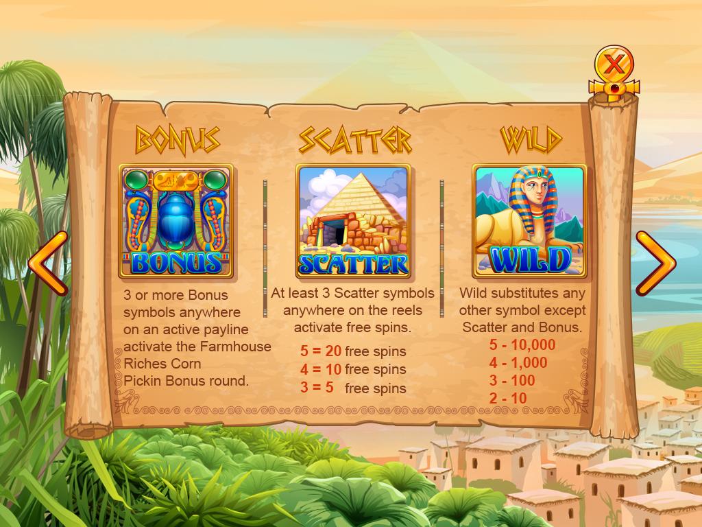 Desert queen_paytable2