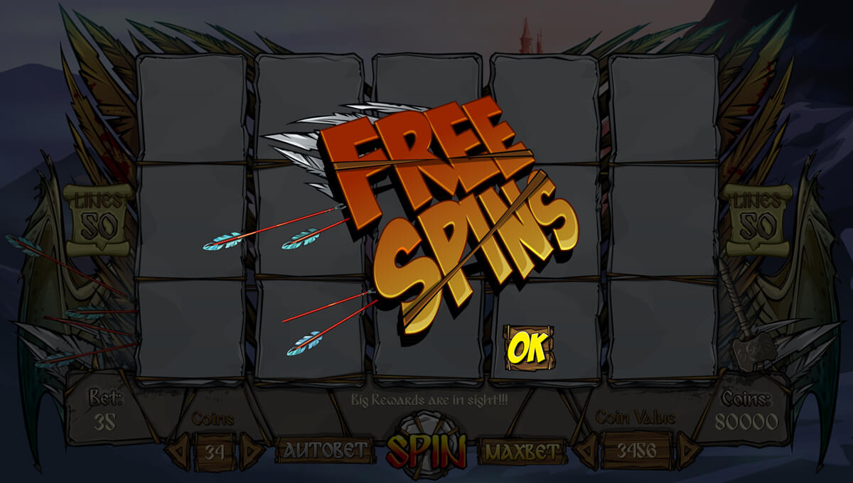 Free spins for the slot machine
