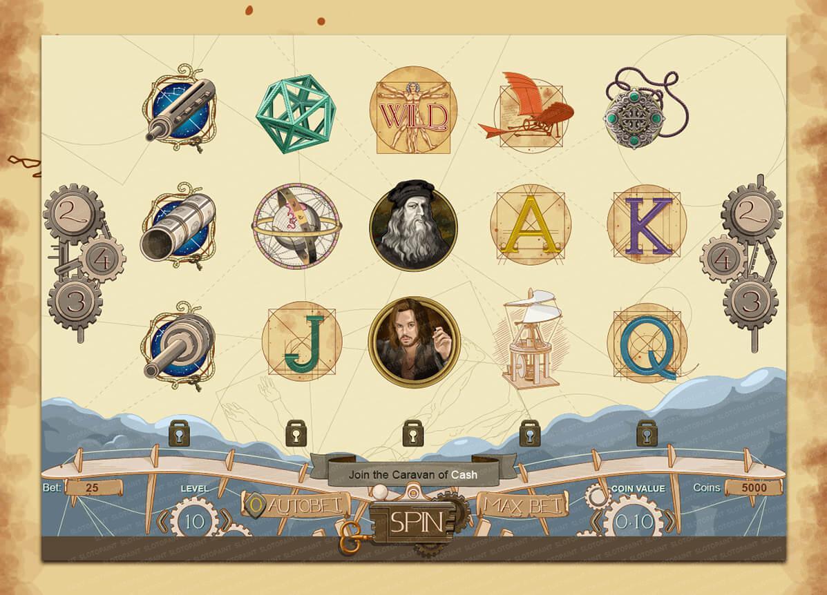 """Symbols of the game slot """"The Da Vinci Device"""""""