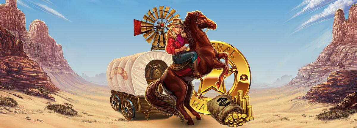 "Cowboy symbols, wild west symbols at game slot ""Wild West"""