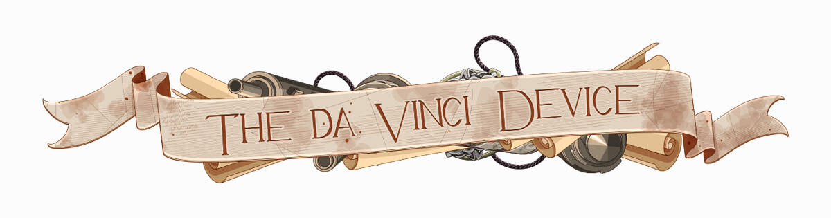 "Logo of the slot ""The Da Vinci Device"""