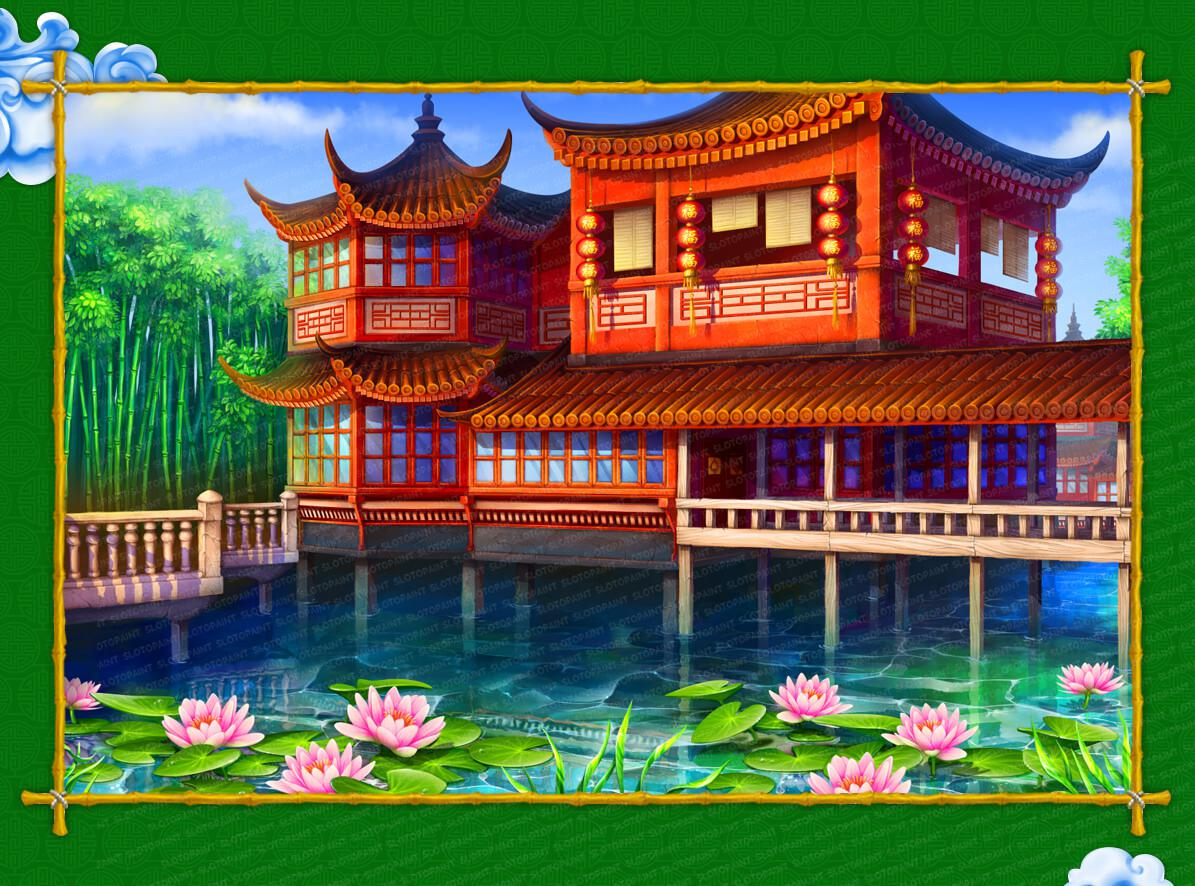 Game slot casino chinese fortune slotopaint development of the detailed background for a slot machine windless weather and calm water surface where peacefully swings lotus flowers and lures you to izmirmasajfo