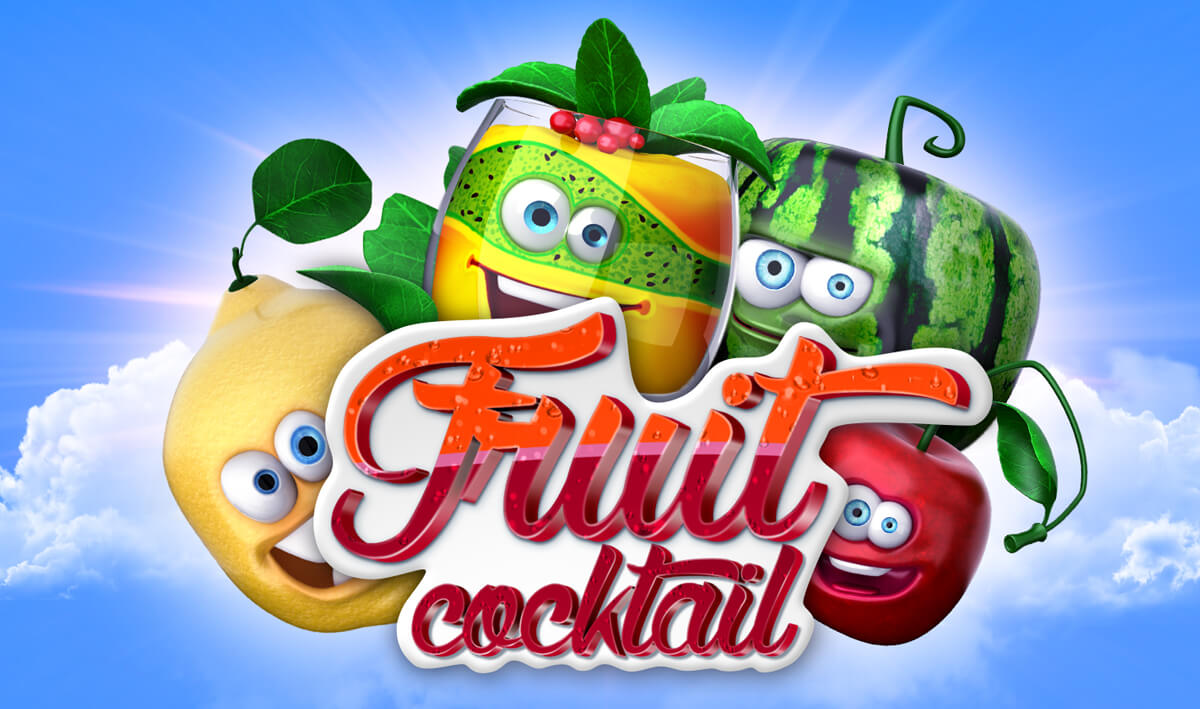 "Logo for the slot machine ""Fruit cocktail"""