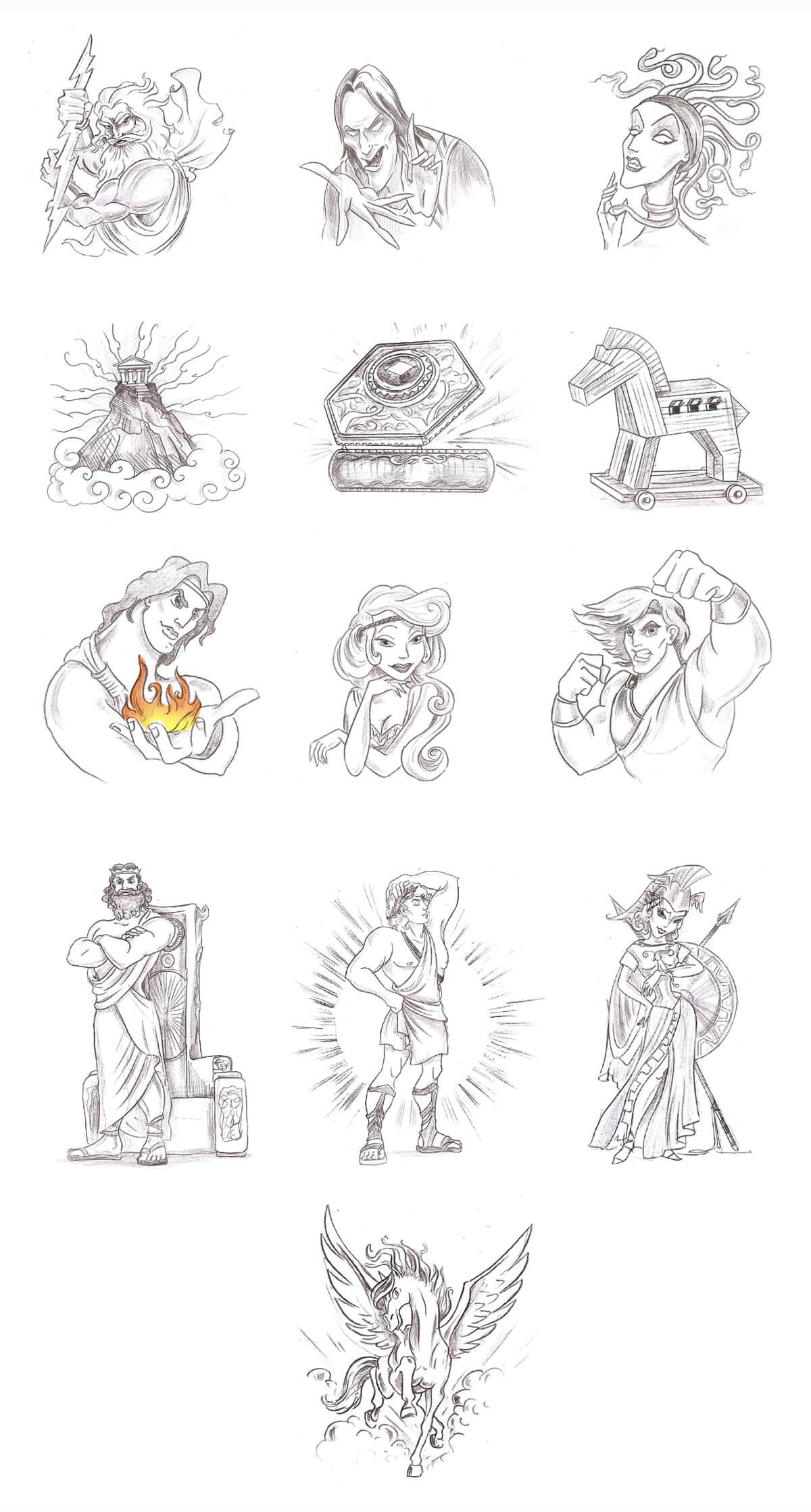 Greek mythology symbols greek god symbols characters icons at symbols biocorpaavc