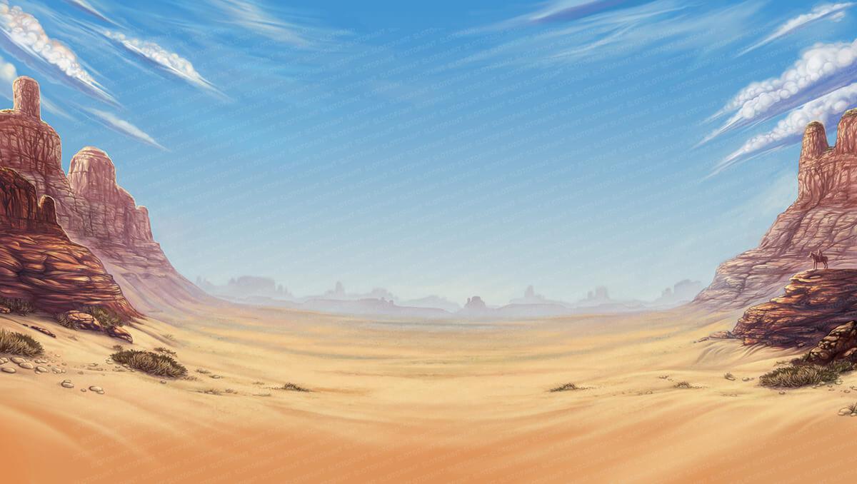 Desert Landscape Graphic Design