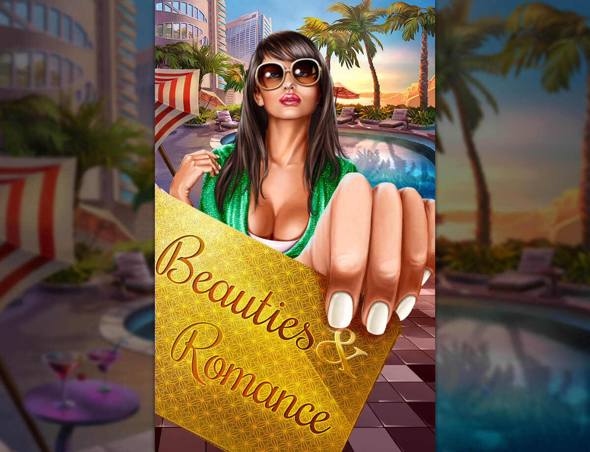 "Logo for the slot ""Beauties & Romance"""