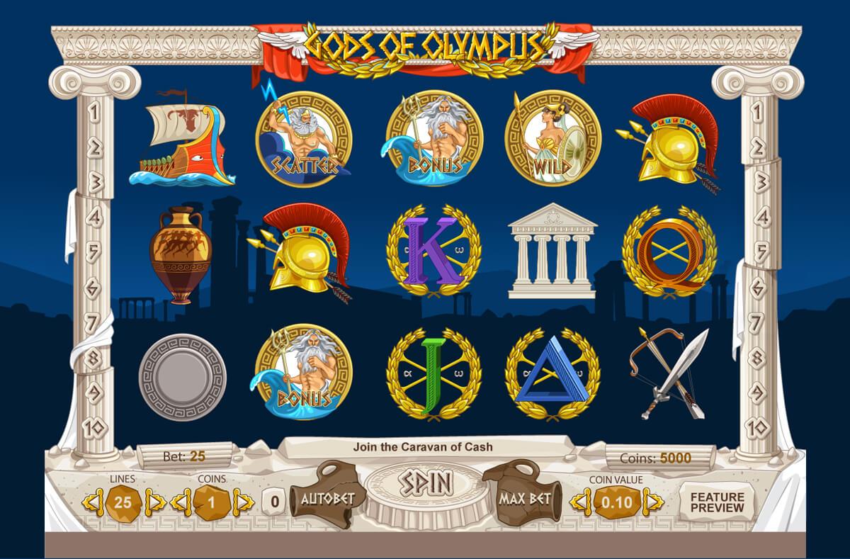 of olympus slot machine