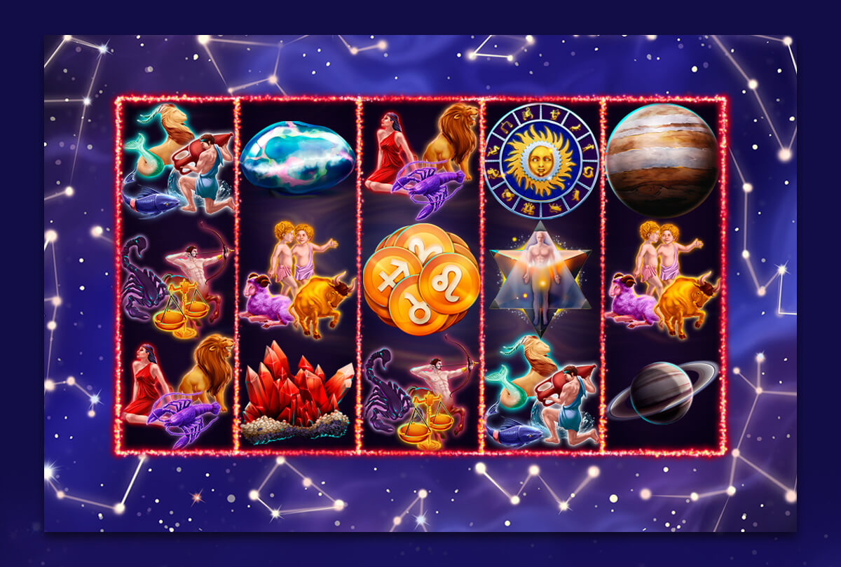 "Game reels for slot machine ""Zodiac"""