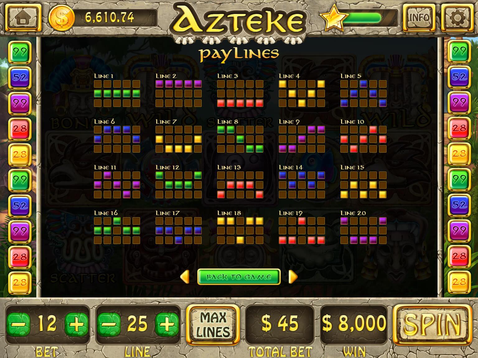 Aztek slot machine