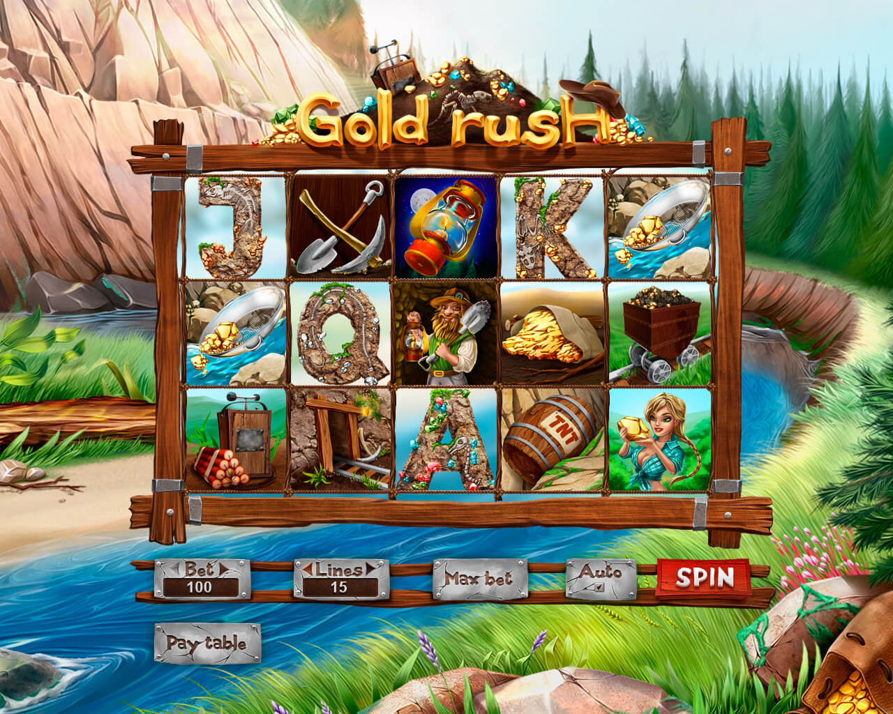 Slot machine about Goldrush