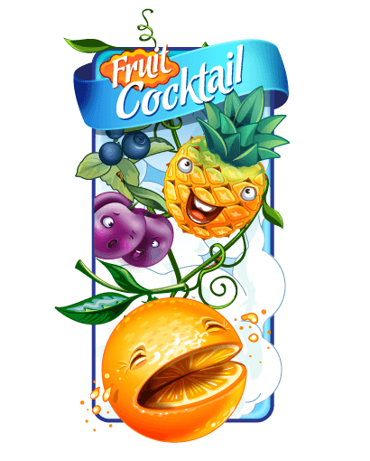 "Logo of the slot ""Fruit Cocktail"""