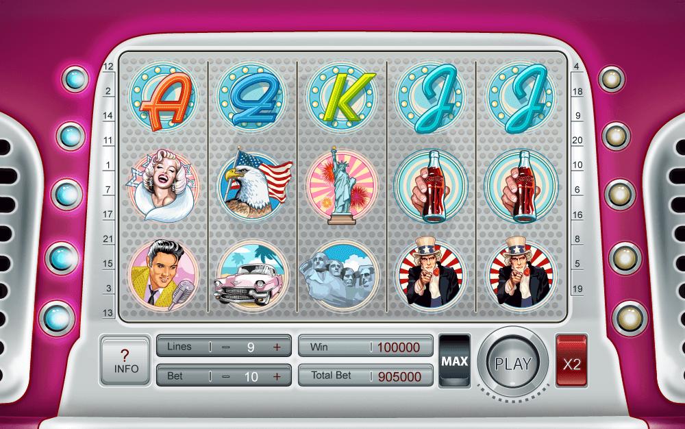 """Pin-up symbols at slot """"Pin-up"""""""