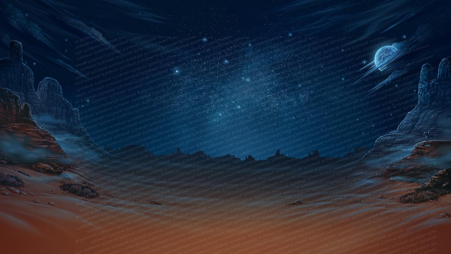 western_background_night