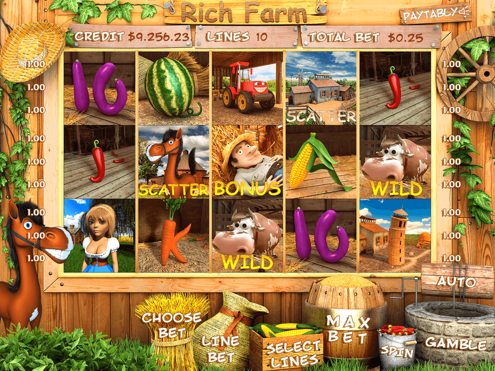 "Slot machine for sale ""Rich Farm"""