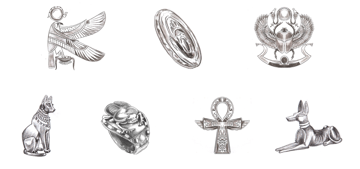 egyptian-treasure_mid-sketches