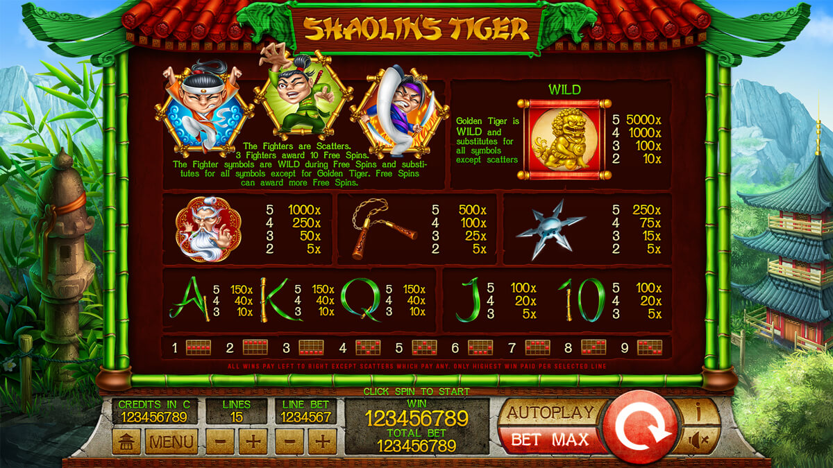 shaolin_tigers_paytable
