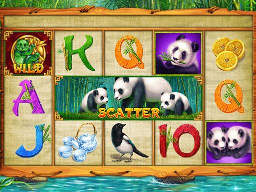 """Game reel of slot """"Panda"""""""