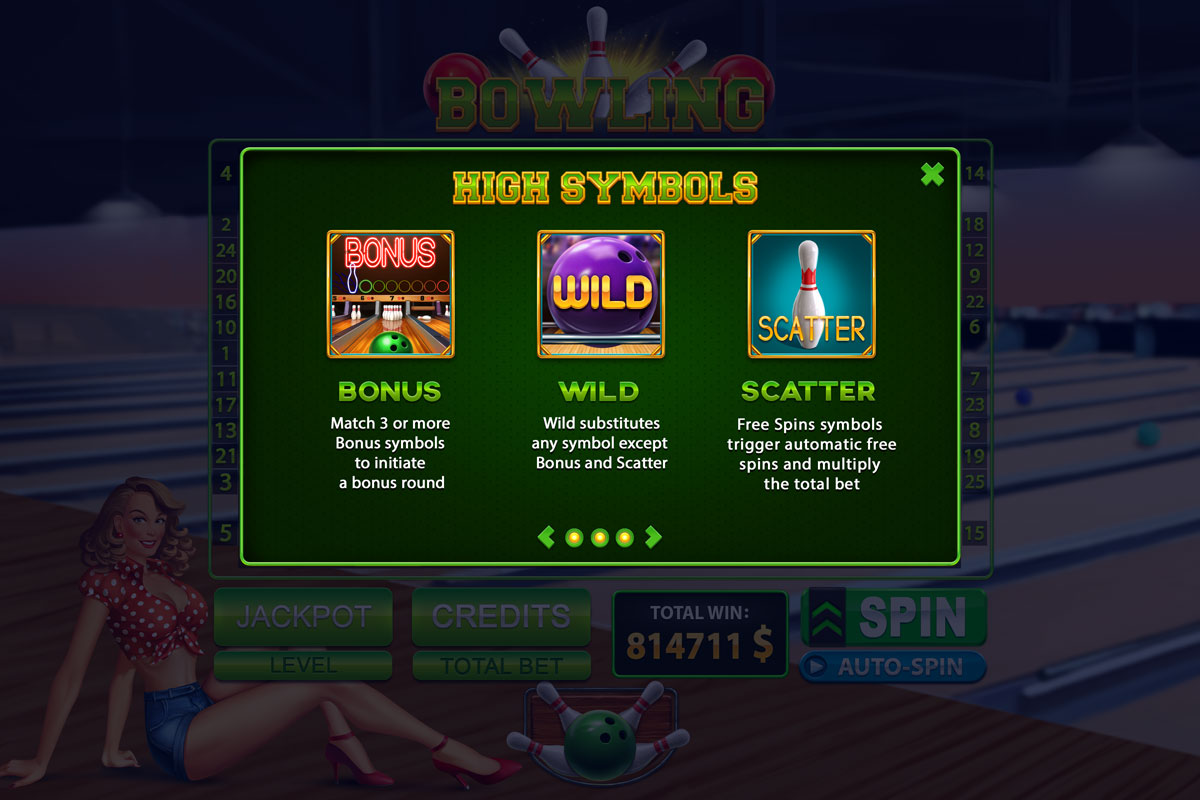 Bowling slot machine for SALE, Bowling slot game by Slotopaint