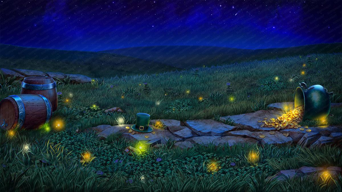 leprechaun_background_night