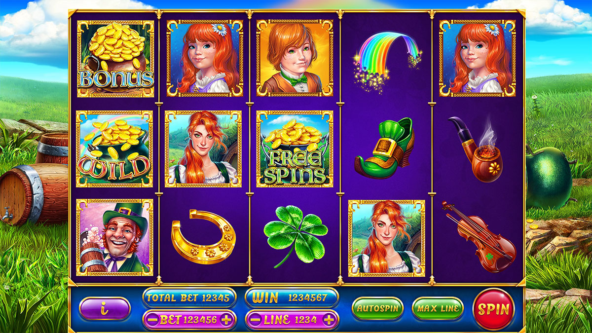 Leprechaun online slot game. Leprechaun Themed slot