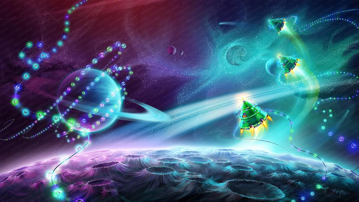 space_christmas_background