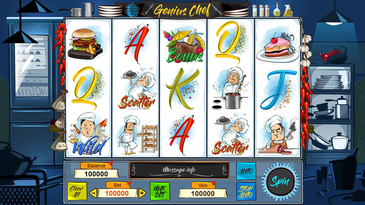 Cooking slot game. Food slot machine