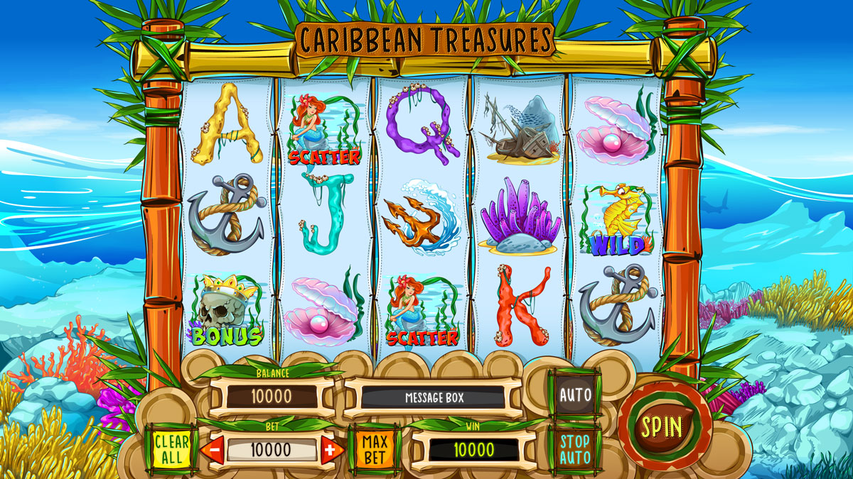 Caribbean Treasure video slot game