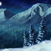 siberian_tiger_background_night